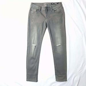 Miss Me Skinny Jeans Grey Distressed